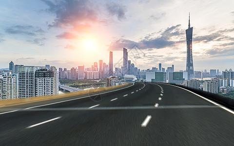 城市公路风景图片