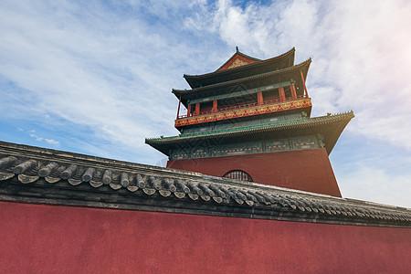 北京古代建筑鼓楼图片