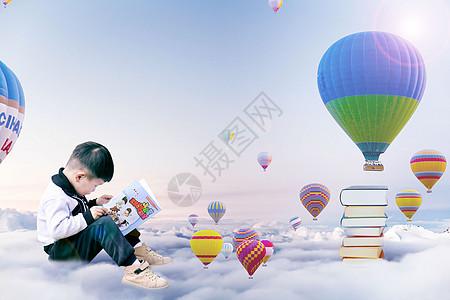 儿童阅读乐趣图片