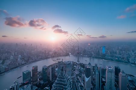 上海环球金融中心视角魔都夕阳高清图片