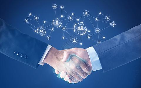 商业握手图片