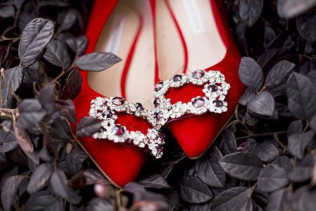 草丛里的红鞋图片
