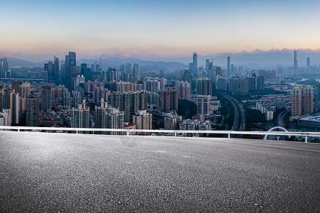 城市道路风景图片