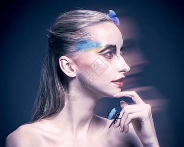 外国美女彩妆创意展示图片