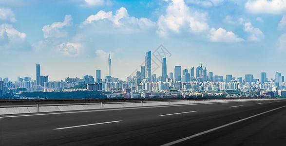 城市上的道路风光图片