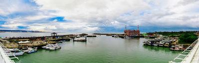 台湾新北市渔人码头全景图片
