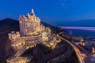 大连城堡酒店夜景图片