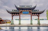 西湖光华复旦牌坊图片