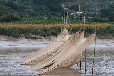 福建霞浦杨家溪滩涂渔网图片