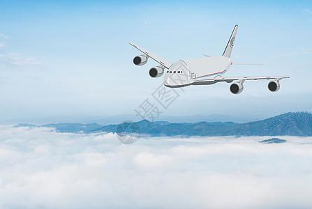 云端上的运输机图片