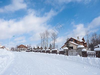 东北长白山小镇图片