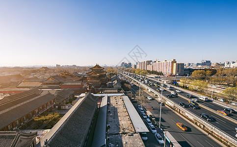 北京城市雍和宫桥图片