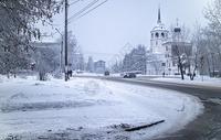冬天城市雪景图片