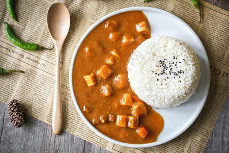 喷香咖喱饭图片