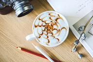 圣诞节日咖啡精美拉花图片