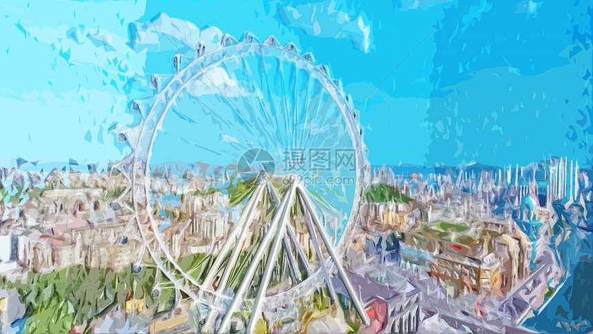 中山市地标建筑摩天轮图片