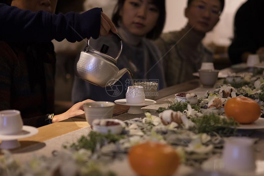 暖呼呼的热茶图片