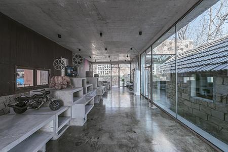 现代感水泥工业风室内设计图片