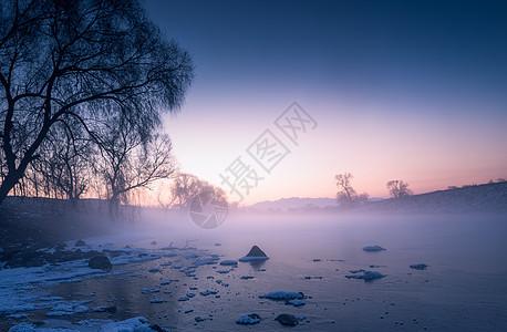 冰雪雾凇冬天雪景图片
