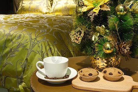 卧室里的圣诞小食图片