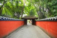 中国风红色围墙图片