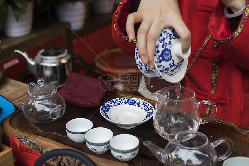 四川成都喝茶图片