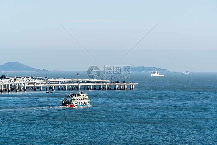 厦门海上轮渡图片
