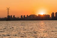 黄昏港口码头图片