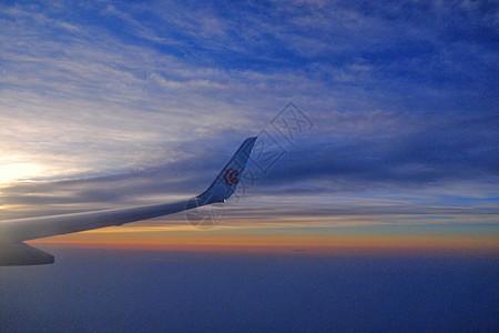 飞机上的日出图片