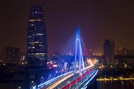 宁波大桥夜景图片
