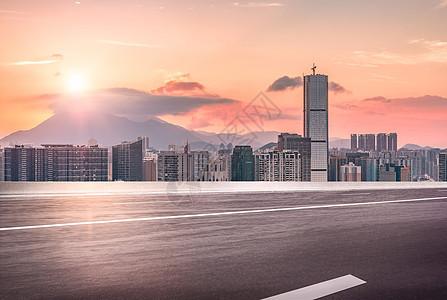 城市公路地面背景图片