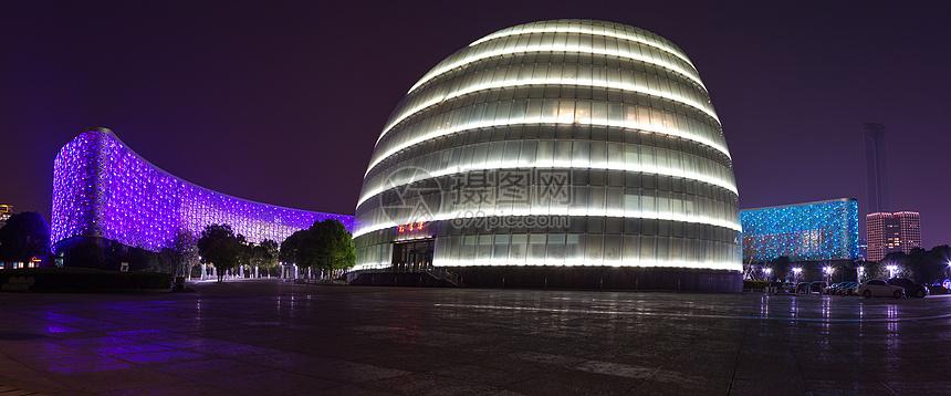 苏州科文中心夜景照片图片