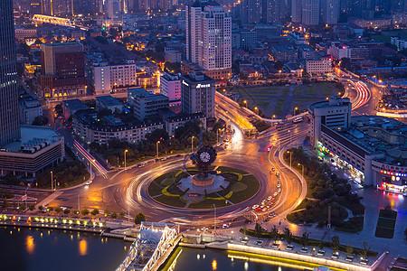 天津世纪钟夜景图片