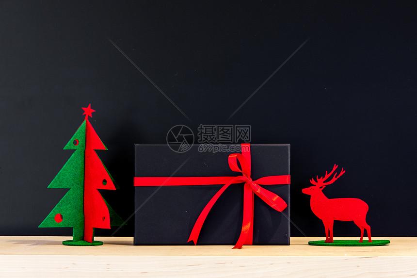 创意圣诞装饰和礼盒图片