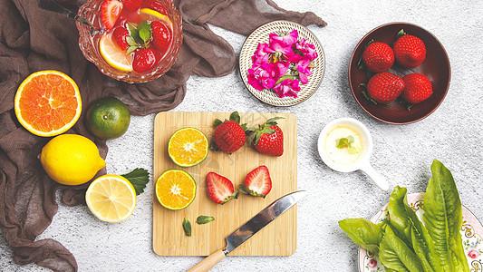 果饮制作食物背景图图片