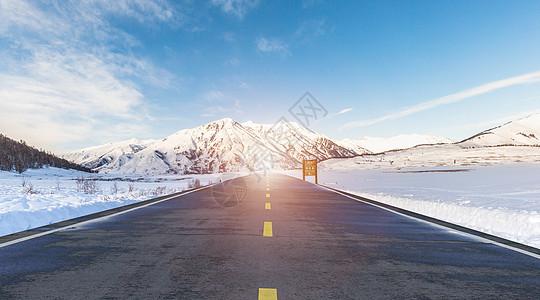 雪山公路地面图片