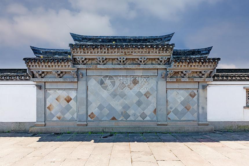 中式建筑墙体素材图片