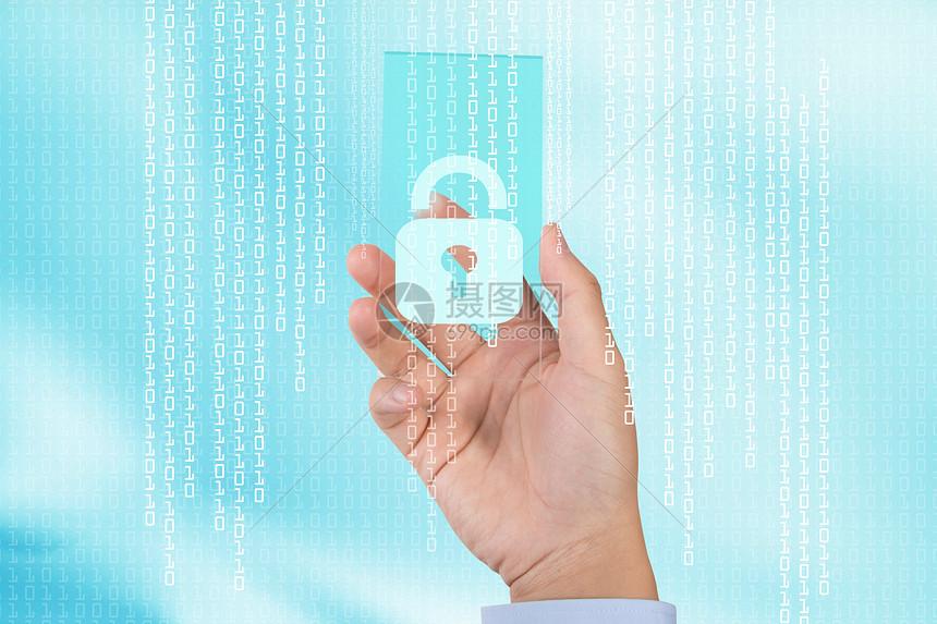 商业科技安全锁图片