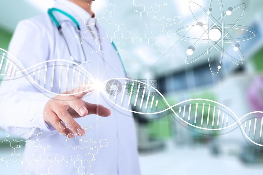 医生与DNA结合高清大图图片