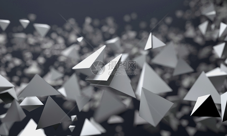 银色科技感背景图片
