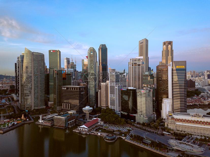 新加坡金融中心航拍图片