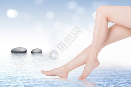 女性腿部美容保养图片