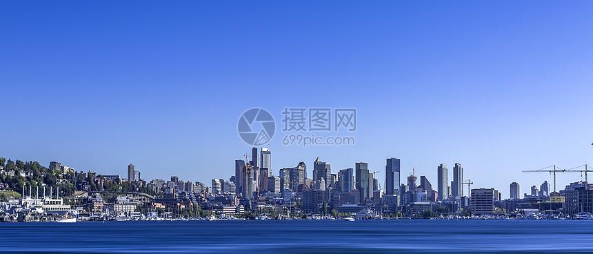 美国加州海港城市天际线图片