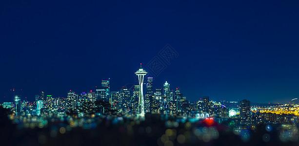 美国加州城市夜景图片