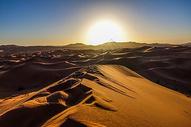 撒哈拉沙漠日出图片
