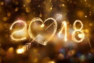 2018创意烟火字背景图片