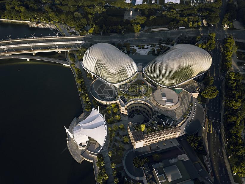 新加坡艺术中心航拍图片