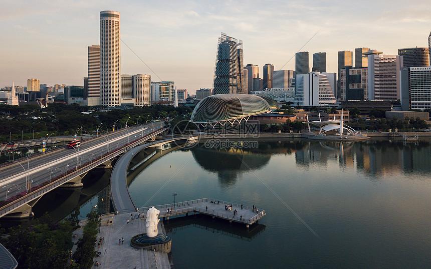 新加坡滨海湾高清大图航拍图片