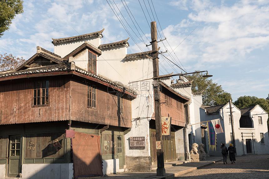 上海车墩影视基地街道环境图片