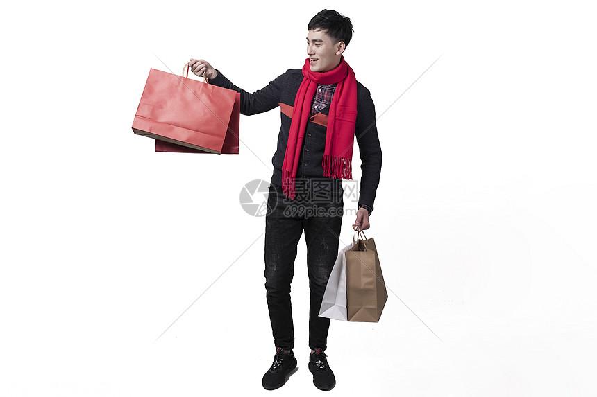 新年男士人像购物形象图片